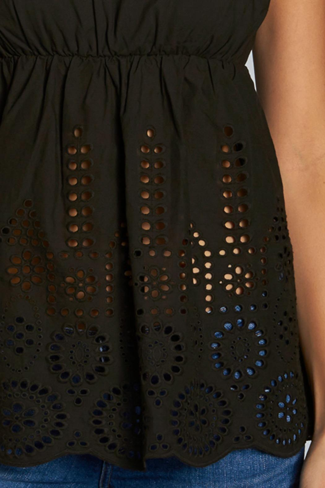 Lovestitch Eyelet Tank Top - Side Cropped Image