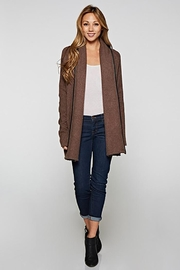 Lovestitch Faux Leather-Trim Cardigan - Other