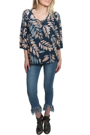 Lovestitch Floral Bell Sleeve Top - Front full body
