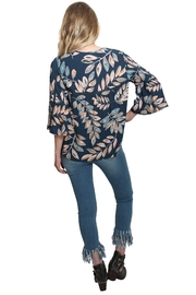 Lovestitch Floral Bell Sleeve Top - Back cropped
