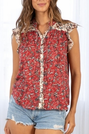 Lovestitch Floral Button-Down Top - Product Mini Image
