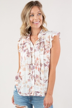 Lovestitch Floral Button-Down Top - Product List Image