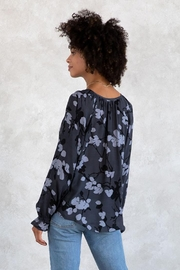 Lovestitch Floral Button Front Long Sleeve Blouse - Side cropped