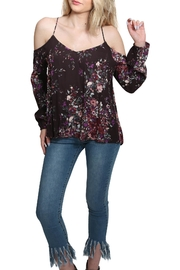 Lovestitch Floral Cold Shoulder Top - Product Mini Image
