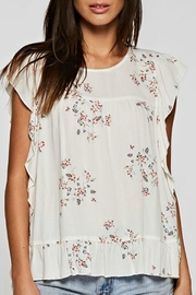 Lovestitch Floral Flutter Top - Product Mini Image