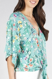 Lovestitch Floral Kimono-Sleeve Top - Product Mini Image