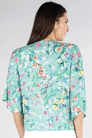 Lovestitch Floral Kimono-Sleeve Top - Side cropped