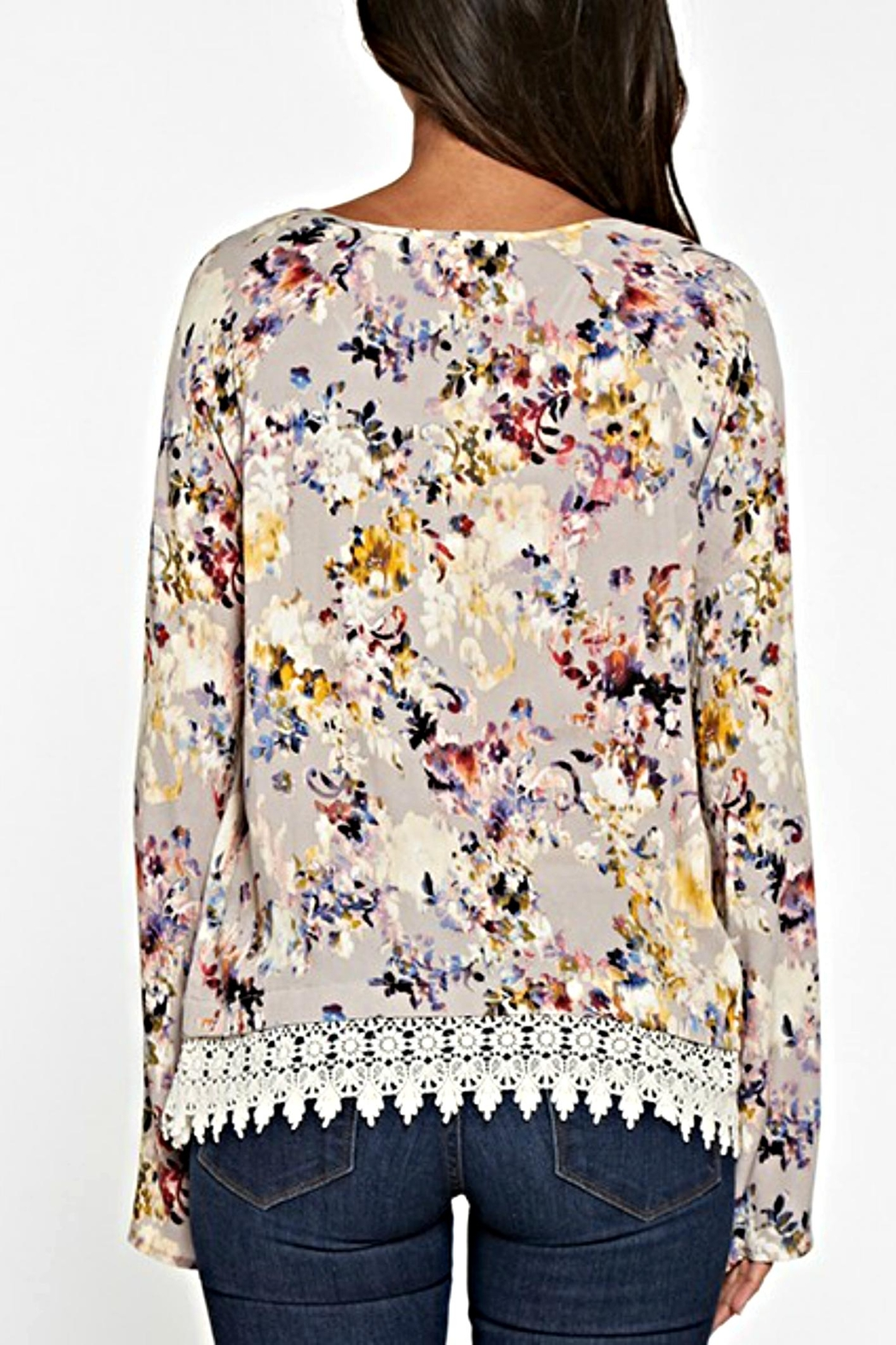 Lovestitch Floral Lace Blouse - Front Full Image