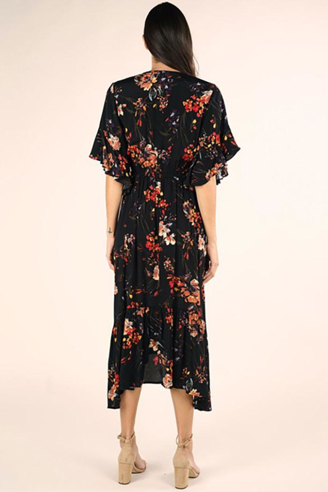 Lovestitch Floral Maxi Dress - Front Full Image