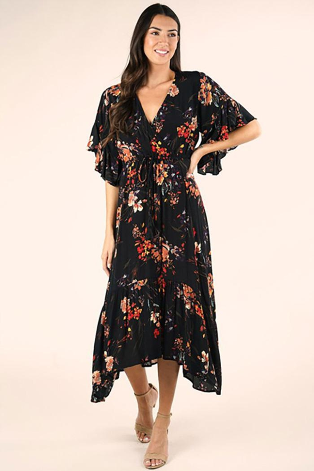 Lovestitch Floral Maxi Dress - Back Cropped Image
