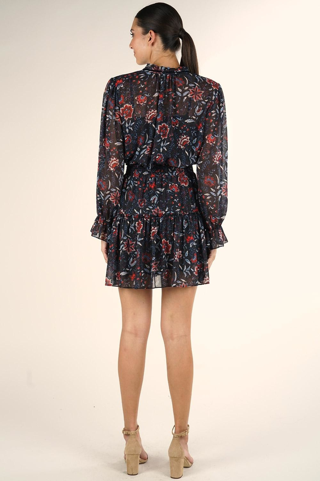 Lovestitch Floral Mini Dress - Side Cropped Image