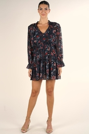 Lovestitch Floral Mini Dress - Front cropped