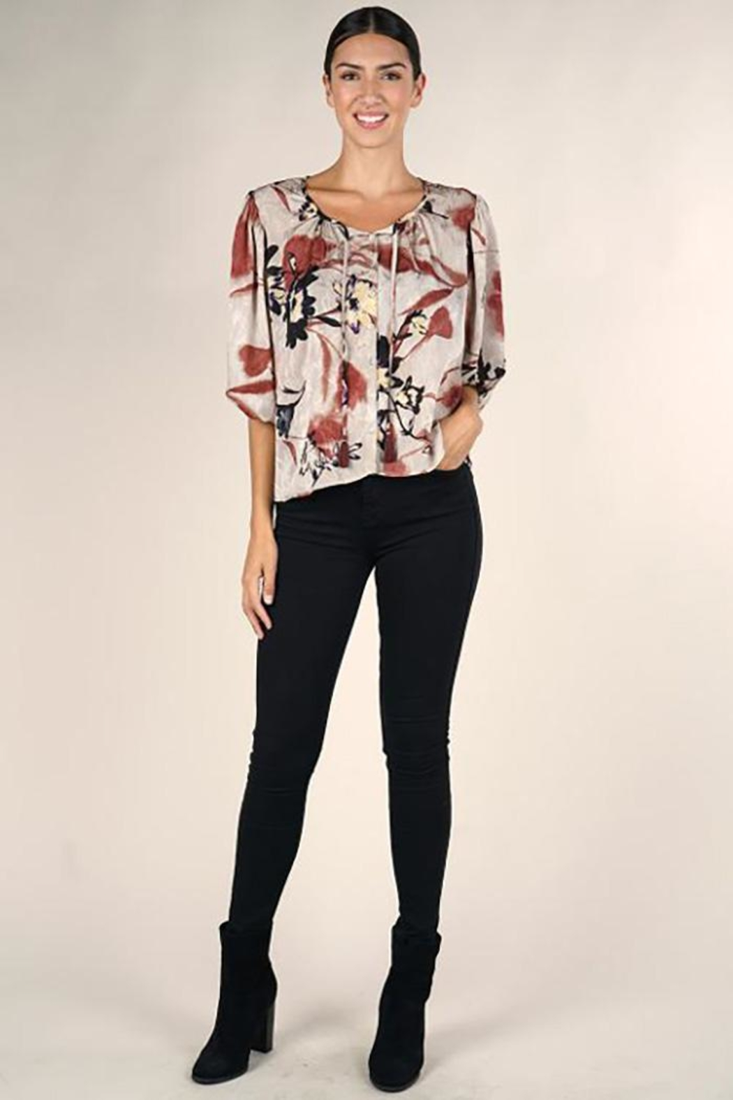 Lovestitch Floral Print Blouse - Front Full Image