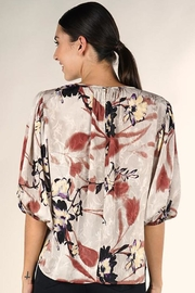 Lovestitch Floral Print Blouse - Back cropped