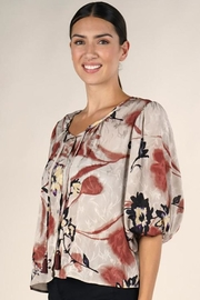 Lovestitch Floral Print Blouse - Product Mini Image