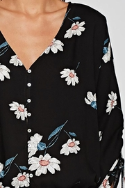 Lovestitch Floral Print Button Front Top - Other
