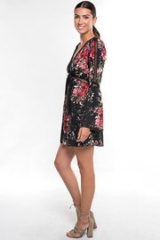 Lovestitch Floral Print Long Bell Sleeve Mini Dress - Other