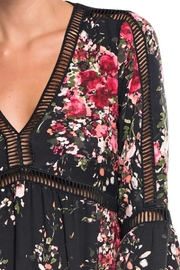 Lovestitch Floral Print Long Bell Sleeve Mini Dress - Back cropped