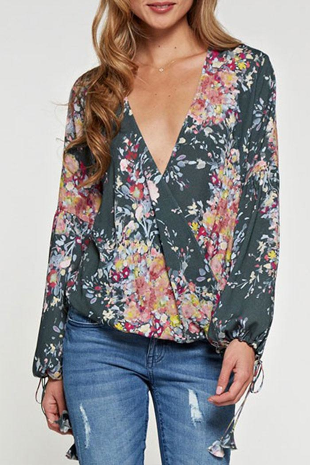 Lovestitch Floral Print Long-Sleeve - Front Cropped Image