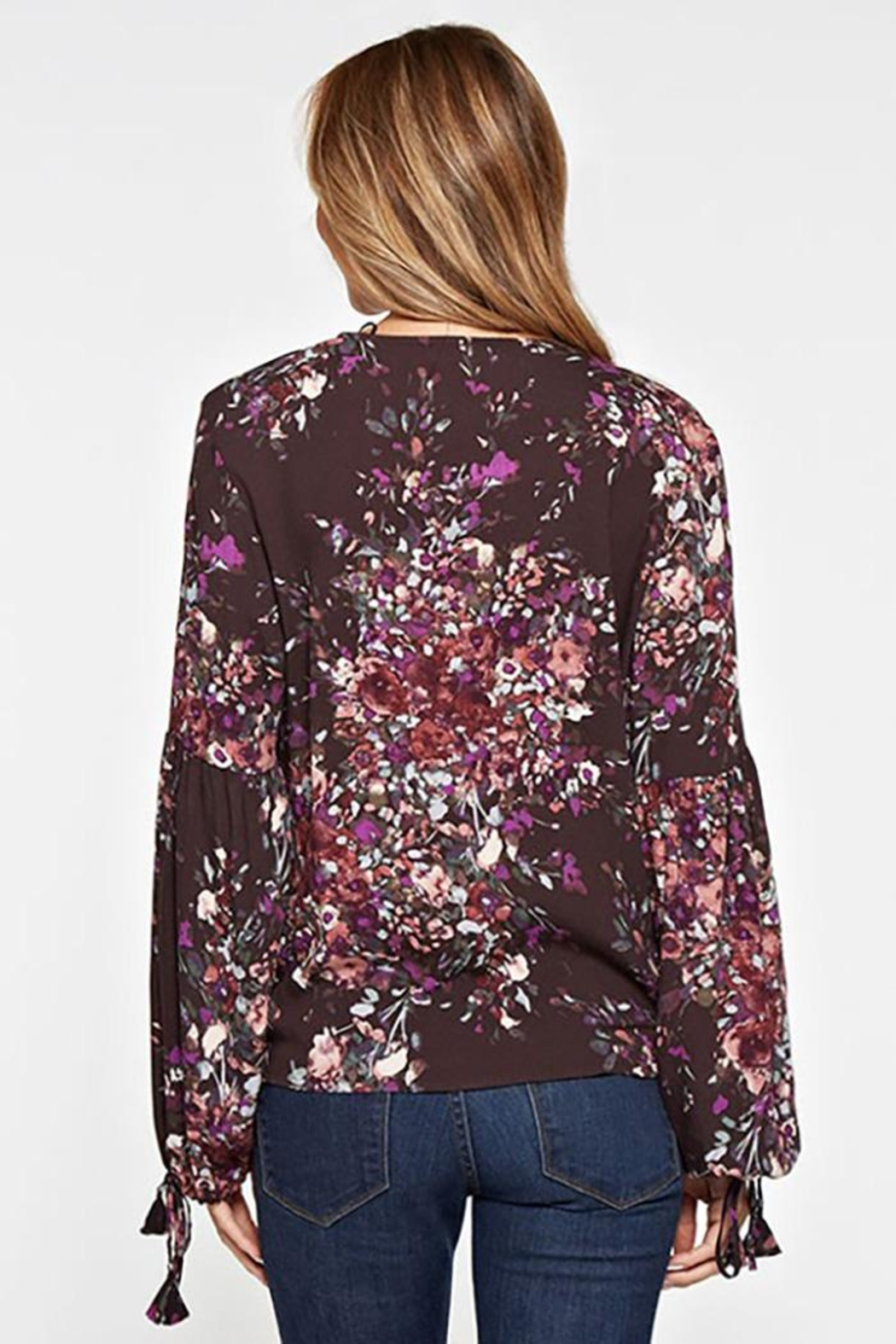 Lovestitch Floral Print Long-Sleeve - Back Cropped Image