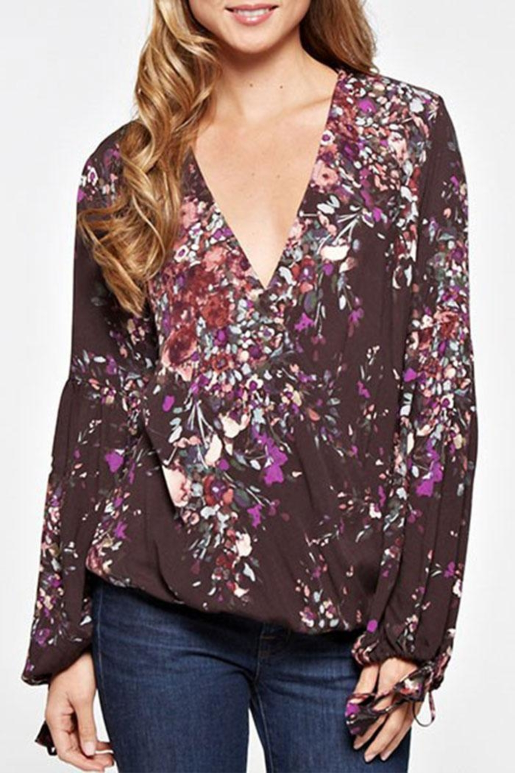 Lovestitch Floral Print Long-Sleeve - Front Full Image
