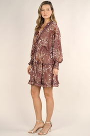 Lovestitch Floral Print Long Sleeve Tiered Mini Dress - Other