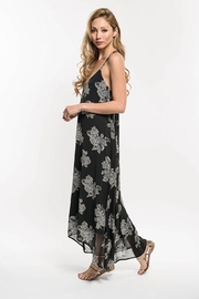 Lovestitch Floral Print Strappy Knot Back Maxi Dress - Front full body