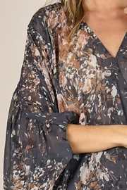 Lovestitch Floral Print Surplice Top - Front full body