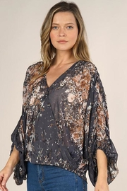 Lovestitch Floral Print Surplice Top - Other