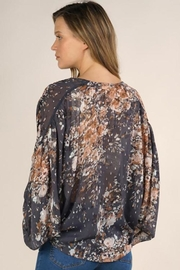 Lovestitch Floral Print Surplice Top - Side cropped