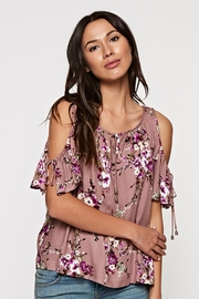 Lovestitch Floral Printed Cold Shoulder Top - Product Mini Image