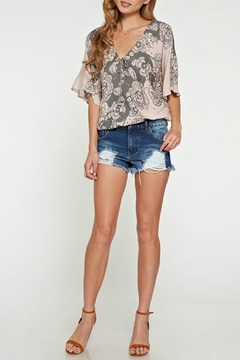 Shoptiques Product: Floral Printed Surplice Top