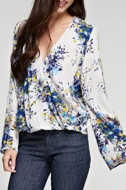 Lovestitch Floral Printed Surplice Top - Back cropped
