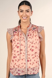 Lovestitch Floral Ruffle-Sleeve Top - Product Mini Image