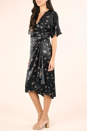 Lovestitch Floral Satin Wrap-Dress - Product Mini Image