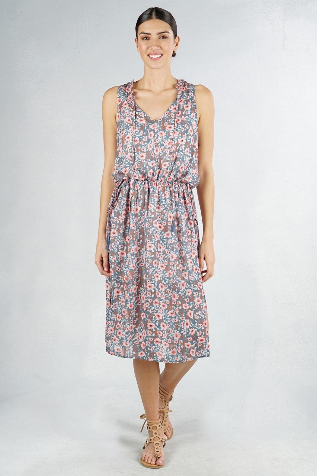 Lovestitch Floral Sleeveless Midi - Main Image