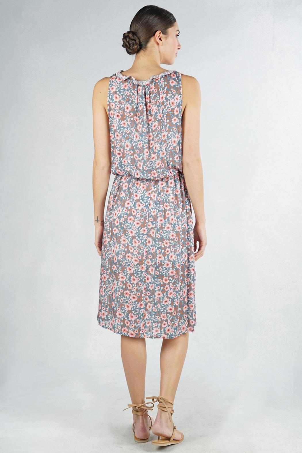 Lovestitch Floral Sleeveless Midi - Side Cropped Image