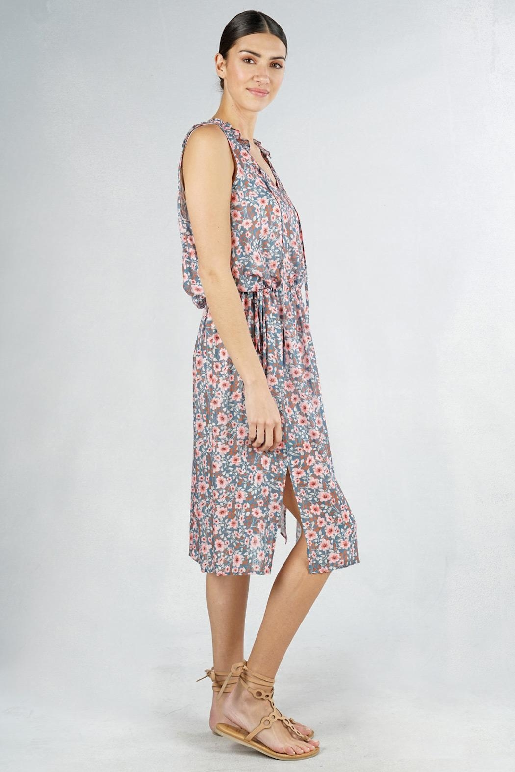 Lovestitch Floral Sleeveless Midi - Front Full Image