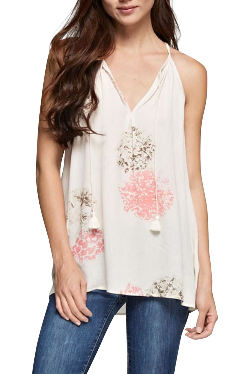 Lovestitch Floral Sleeveless Top - Main Image