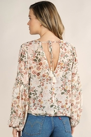 Lovestitch Floral Surplice Long Sleeve Top - Other