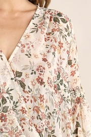 Lovestitch Floral Surplice Long Sleeve Top - Side cropped