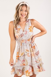 Lovestitch Floral V-Neck Dress - Product Mini Image