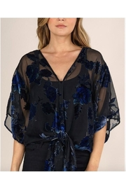 Lovestitch Floral Velvet Kimono Sleeve Top - Product Mini Image