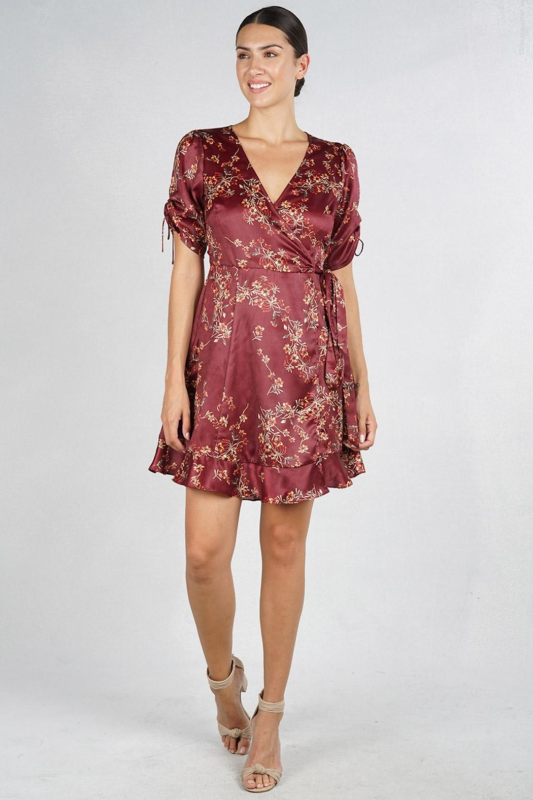 Lovestitch Floral Wrap Dress - Front Full Image