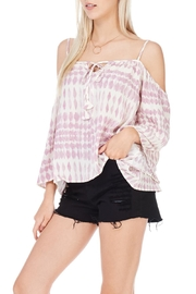 Lovestitch Flowy Cold Shoulder Top - Product Mini Image