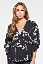 Lovestitch Flutter Sleeve Top With Cross Front Detail - Product Mini Image
