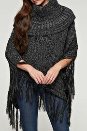 Lovestitch Fringed Cable Poncho - Product Mini Image