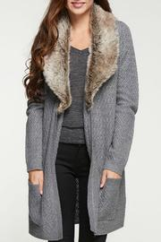 Lovestitch Fur Trim Cardigan - Product Mini Image