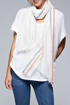 Shoptiques Product: Gauzy Striped Scarf