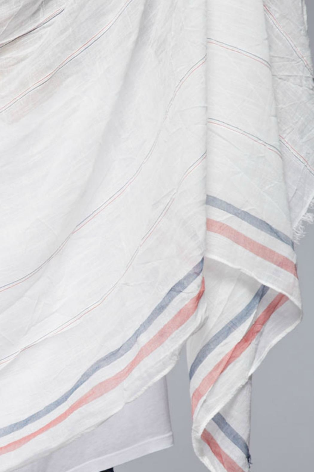 Lovestitch Gauzy Striped Scarf - Front Full Image